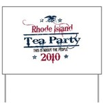 rhode island tea party Yard Sign