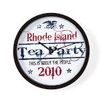 rhode island tea party Wall Clock
