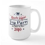 rhode island tea party Large Mug