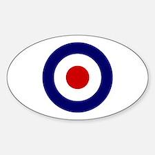 Cute Raf roundel Sticker (Oval)