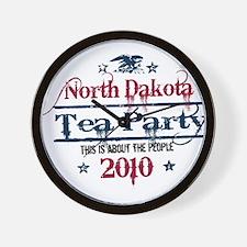 north dakota tea party Wall Clock
