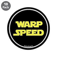 """Warp Speed 3.5"""" Button (10 pack)"""