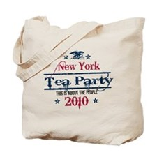 new york tea party Tote Bag
