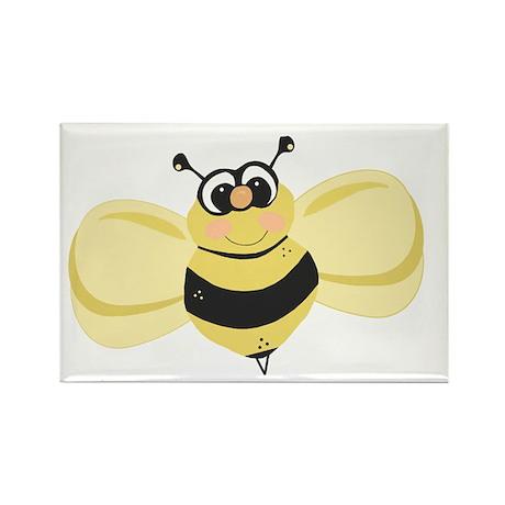 Cheery Bee Rosey Cheeks Rectangle Magnet
