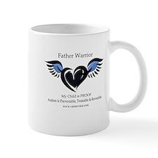 Father Warrior. Autism is Treatable. Mug