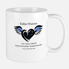 Father Warrior. Autism is Treatable. Mug