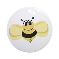 Cheery Bee Rosey Cheeks Ornament (Round)