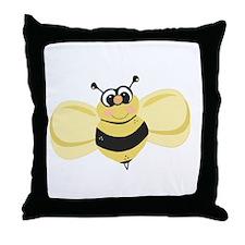 Cheery Bee Rosey Cheeks Throw Pillow