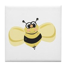 Cheery Bee Rosey Cheeks Tile Coaster
