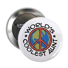 "World's Coolest Aunt 2.25"" Button"