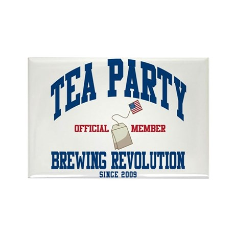 TEA PARTY BREWING REVOLUTION Rectangle Magnet