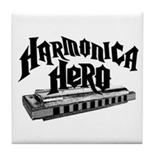 Harmonica Hero Tile Coaster