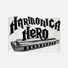 Harmonica Hero Rectangle Magnet