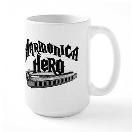 Harmonica Hero Large Mug