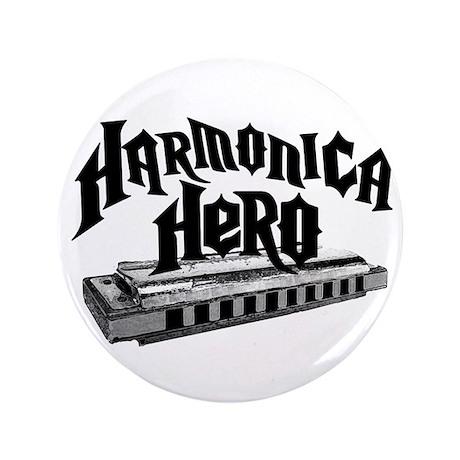 "Harmonica Hero 3.5"" Button (100 pack)"