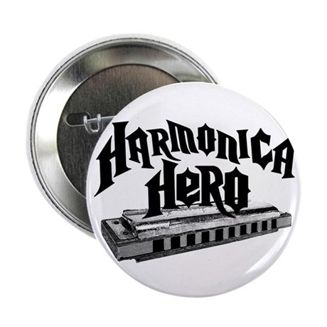 "Harmonica Hero 2.25"" Button (100 pack)"