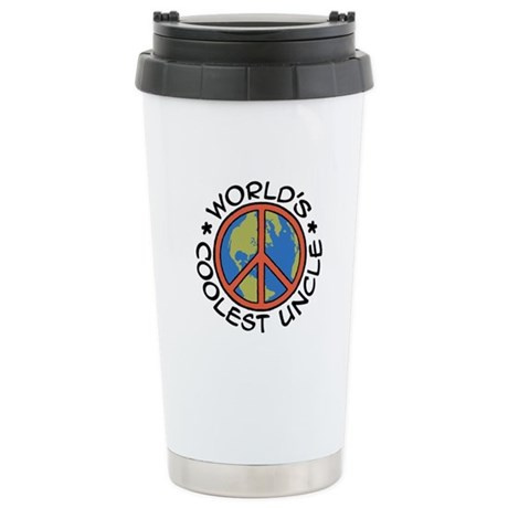 World's Coolest Uncle Stainless Steel Travel Mug