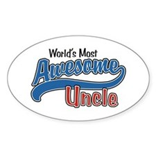 World's Most Awesome Uncle Decal