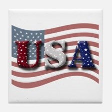 "Starry ""USA""/Flag Tile Coaster"