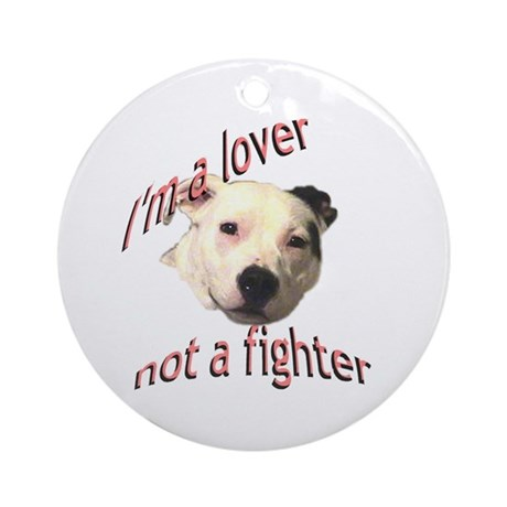 Moo the Pitboo Spreads Dog Fi Ornament (Round)