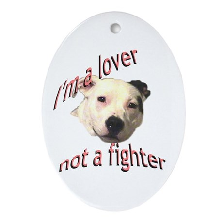 Moo the Pitboo Spreads Dog Fi Ornament (Oval)