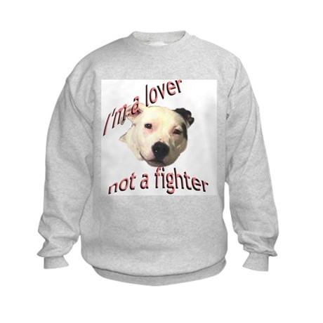 Moo the Pitboo Spreads Dog Fi Kids Sweatshirt