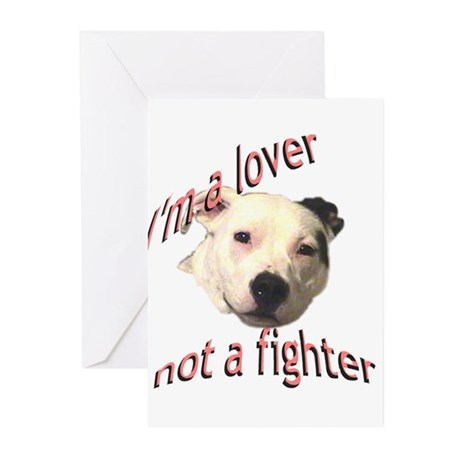 Moo the Pitboo Spreads Dog Fi Greeting Cards (Pk o