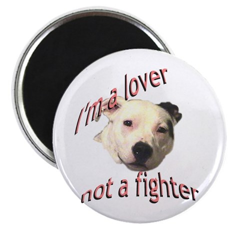 "Moo the Pitboo Spreads Dog Fi 2.25"" Magnet (1"