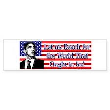Political Bumper Stickers Bumper Sticker