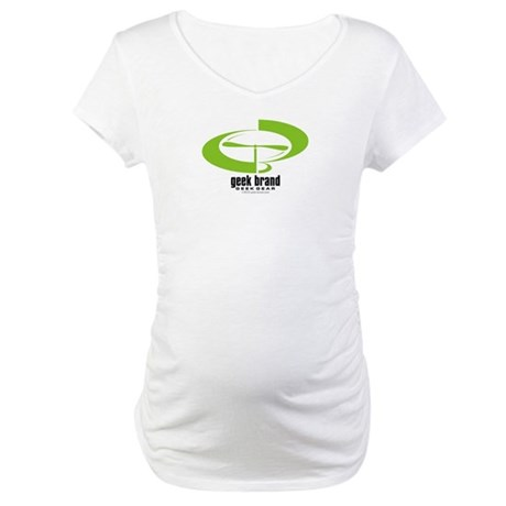Geek-Brand Green Maternity T-Shirt