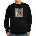 Pastel Drawing PAWS Tiger Sweatshirt (dark)