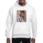 Pastel Drawing PAWS Tiger Hooded Sweatshirt