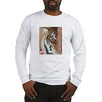 Pastel Drawing PAWS Tiger Long Sleeve T-Shirt