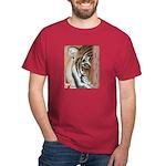 Pastel Drawing PAWS Tiger Dark T-Shirt