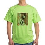 Pastel Drawing PAWS Tiger Green T-Shirt