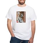 Pastel Drawing PAWS Tiger White T-Shirt
