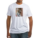 Pastel Drawing PAWS Tiger Fitted T-Shirt