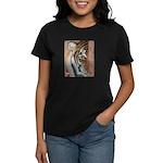 Pastel Drawing PAWS Tiger Women's Dark T-Shirt