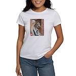 Pastel Drawing PAWS Tiger Women's T-Shirt