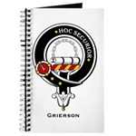 Grierson Clan Crest Badge Journal