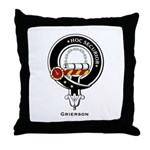 Grierson Clan Crest Badge Throw Pillow