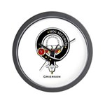 Grierson Clan Crest Badge Wall Clock