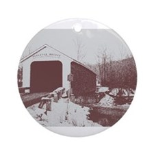 Rexleigh Covered Bridge Ornament (Round)