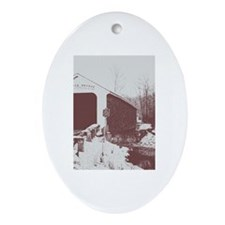 Rexleigh Covered Bridge Ornament (Oval)
