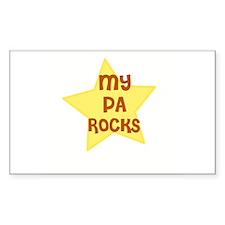 MY PA ROCKS Rectangle Decal