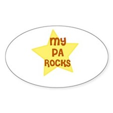 MY PA ROCKS Oval Decal