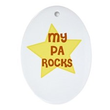 MY PA ROCKS Oval Ornament