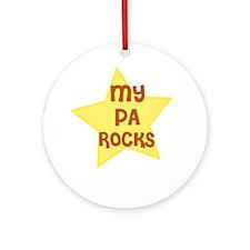 MY PA ROCKS Ornament (Round)