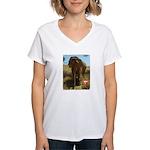 Gypsy the Asian Elephant Women's V-Neck T-Shirt