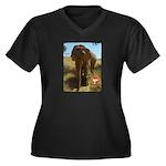 Gypsy the Asian Elephant Women's Plus Size V-Neck